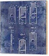 1910 Cigar Cutter Patent Drawing Blue Wood Print