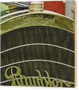1910 Rambler Model 54 5 Passenger Touring Hood Ornament Wood Print by Jill Reger
