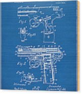 1911 Automatic Firearm Patent Artwork - Blueprint Wood Print