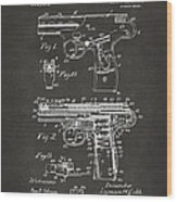 1911 Automatic Firearm Patent Artwork - Gray Wood Print by Nikki Marie Smith