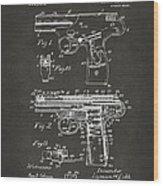 1911 Automatic Firearm Patent Artwork - Gray Wood Print
