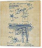 1911 Automatic Firearm Patent Artwork - Vintage Wood Print