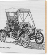 1911 Ford Model T Tin Lizzie Wood Print by Jack Pumphrey