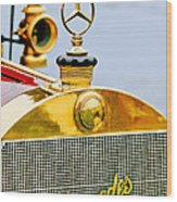 1911 Mercedes 50 Hp Maythorn Tourer Hood Ornament Wood Print