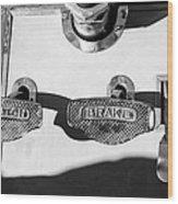 1911 Pope Hartford Model W Control Pedals Wood Print by Jill Reger