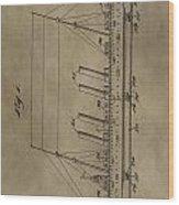 1911 Steamship Patent Wood Print