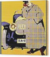 1912 - Audi Automobile Advertisement Poster - Ludwig Hohlwein - Color Wood Print