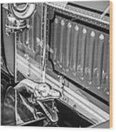 1912 Rolls-royce Silver Ghost Rothchild Et Fils Style Limousine Snake Horn -0711bw Wood Print