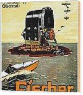 1913 - Fischer Magneto German Advertisement Poster - Color Wood Print