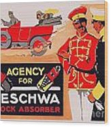 1913 - Geschwa Automobile Shock Absorber Adbertisement - Color Wood Print