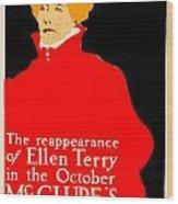 1913 - Mcclures Magazine Poster Advertisement - Ellen Terry - Color Wood Print