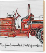 1913 Ahrens-fox Front Mounted Piston Pumper Wood Print
