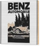 1914 - Benz Automobile Poster Advertisement - Color Wood Print