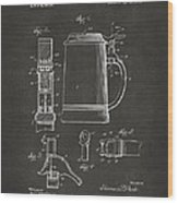 1914 Beer Stein Patent Artwork - Gray Wood Print