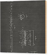 1914 Flute Patent - Gray Wood Print