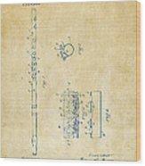 1914 Flute Patent - Vintage Wood Print