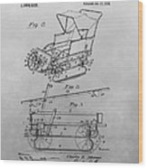 1914 Go Cart Patent Drawing Wood Print