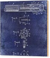 1915 Billiard Cue Patent Drawing Blue Wood Print