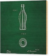 1915 Coca Cola Bottle Design Patent Art 4 Wood Print
