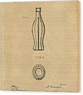 1915 Coca Cola Bottle Design Patent Art 5 Wood Print