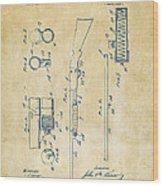 1915 Ithaca Shotgun Patent Vintage Wood Print