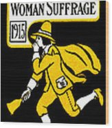 1915 Vote Yes On Woman's Suffrage Wood Print by Historic Image
