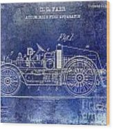 1916 Automobile Fire Apparatus Patent Drawing Lt Blue Wood Print