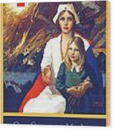 1917 - Red Cross Nursing Recruiting Poster - World War One - Color Wood Print