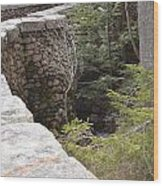 1917 Carriage Road Bridge Jordan Stream Acadia Maine Wood Print