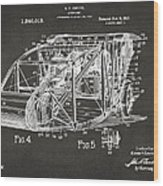 1917 Glenn Curtiss Aeroplane Patent Artwork 3 - Gray Wood Print