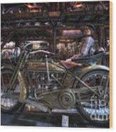 1917 Harley Davidson Wood Print