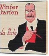 1918 - Wintergarten Poster - Roda Roda - Stephan Krotowski - Color Wood Print
