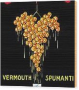 1919 - Conzano Vermouth Advertisement Poster - Color Wood Print