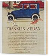 1919 - Franklin Sedan Advertisement - Color Wood Print