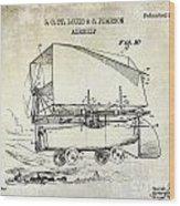 1919 Airship Patent Drawing Wood Print