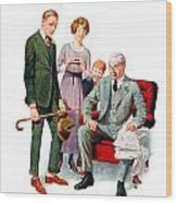 1920 - Life Magazine Cover - Engagement - J F Kernan - January 29 - Color Wood Print
