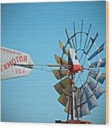 1920 Aermotor Windmill Wood Print
