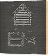 1920 Lincoln Log Cabin Patent Artwork - Gray Wood Print