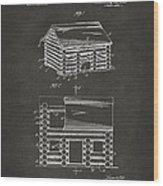 1920 Lincoln Logs Patent Artwork - Gray Wood Print