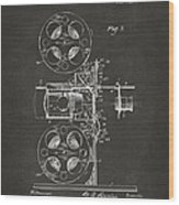 1920 Motion Picture Machine Patent Gray Wood Print