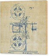 1920 Motion Picture Machine Patent Vintage Wood Print