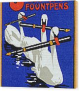 1920 Swan Fountain Pens Wood Print