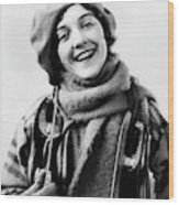 1920s 1930s Smiling Woman Dressed Wood Print