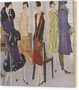 1920s Fashion  1925 1920s Uk Womens Wood Print