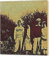 1920s Golf Wood Print