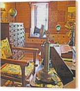 1920's Office Wood Print