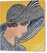 1920s Sun Hat Wood Print