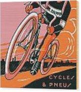 1921 - Van Hauwaert Bicycle Belgian Advertisement Poster - Color Wood Print