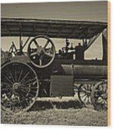 1921 Aultman Taylor Tractor Wood Print by Debra and Dave Vanderlaan