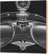 1921 Duesenberg Hood Ornament Wood Print
